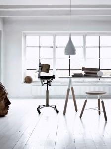 Zona de trabajo de diseño escandinavo