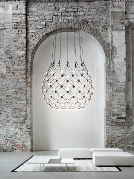 Imagen lámpara Mesh de Luceplan en interiorismo