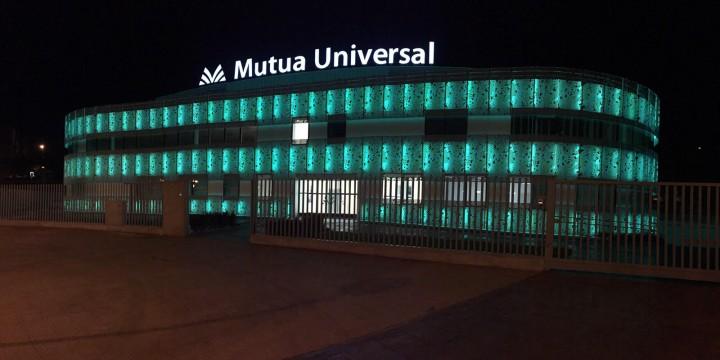 Iluminación edificio Mutua Universal Logroño